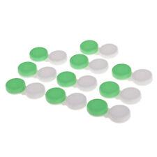 Bulk 10pcs Contact Lens Box Travel Lenses Storage Case Lense Holder Green