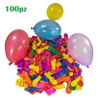Set 100 Pezzi Palloncini Colorati Feste Compleanni Party Bambini moc