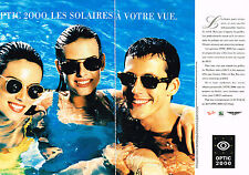 PUBLICITE ADVERTISING 074  1998  OPTIQUE 2000   lunettes solaires ( 2 pages)