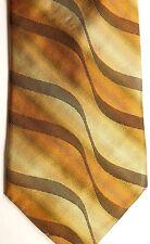"Piattelli Platinum Silk Tie 57"" X 4"" Shaded Wavy Multiple Color American Stripes"