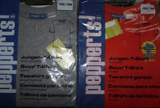 2 x Jungen T-Shirt * 122/128 * Grau/Orange * Pepperts* Neu * OVP