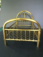 Vintage Brass Doll Bed 16 x 9 inches Well Made Brass Doll Bed Salesmen's Sample?