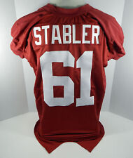 2004-2006 Alabama Crimson Tide B.J. Stabler #61 Game Used Red Jersey Bama00150