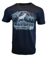 NORTHERN OUTPOST Mens T Shirt American WILDERNESS Hiking Kayak Outdoor USA Tee