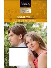Lithuanian book - Annie West. Daugiau nei verslas (2015 kovas–balandis)