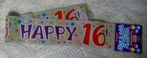 Holographic Foil Party Banner  - Happy 16th
