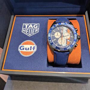 TAG Heuer Formula 1 Gulf Special Edition Chrono Watch 43mm CAZ101N.FC8243 NEW