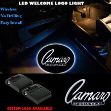 Car Door Camaro Logo Projector Shadow Light For Chevy Camaro Wireless