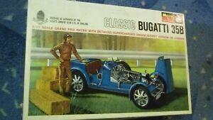 maquette monogram classic bugatti 35B 1/24 eme complete an 60 70
