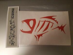 """G LOOMIS FISH SKELETON DIE CUT VINYL SITCKER VARIOUS COLOURS 9"""" x 6"""""""