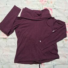 Columbia Women Purple Small Cowl Neck Long Sleeve Top Hiking Camping Outdoor
