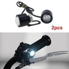 2Pcs White LED Motorcycle Handlebar Spotlight Headlight Driving Light Fog Lamp J