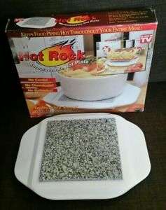 Vintage Keep it Hot Microwaveable Hot Plate Granite Core As Seen on TV USA