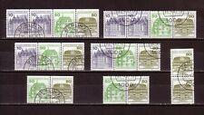 BERLIN 1977: Zusammendrucke aus Markenheftchen gestempelt