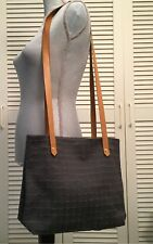Hermes Ahmadabad Gray Canvas Shoulder Crossbody Bag Grey Leather Straps