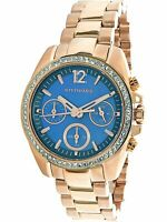 Wittnauer Women's Quartz Crystal Accents Chronograph Rose Gold 34mm Watch WN4041