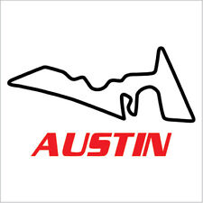 "USA Austin Formule One Racing Circuit Track Decal Vinyl Sticker Sizes:2.3""x4"""