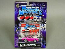 Muscle Machines 1966 FORD MUSTANG PINK  Hot Rod 1/64 Diecast #rs1