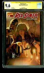 Red Sonja #7 CGC SIGNATURE SERIES SS 9.6 Adam Hughes  Cover Dynamite 2006