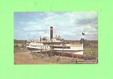 F POSTCARD SIDEWHEELER TICONDEROGA SHELBURNE MUSEUM VERMONT SHIP BOAT CARD