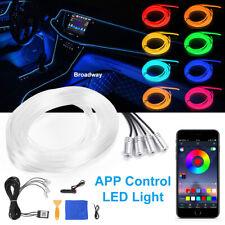 LED Striscia di Luci a RGB per Interno di Auto Fluorescente Illuminazione App