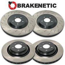 FRONT+REAR BRAKENETIC PREMIUM Slotted Brake Rotors Hellcat SRT w/6 PISTON BREMBO