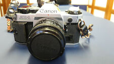 Canon AE-1 Program 35mm SLR Camera, Canon 50mm 1:1.8 Lens, Soligor 90-200mm lens