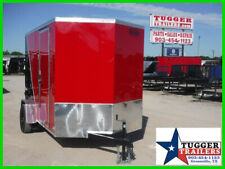 6X10 10Ft V-Nose Box Work Tools Move Bike Travel Lawn Side Enclosed Trailer
