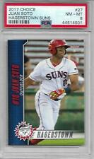 Juan Soto 2017 Hagerstown Suns #27 FIRST YEAR ISSUE ROOKIE PSA 8 NICE! NAT'S
