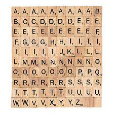 100 x wooden Scrabble Tiles letters - Magnets Pendants Craft 1 Complete Set