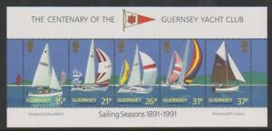 Guernsey - 1991, Guernsey Yacht Club sheet - MNH - SG MS529