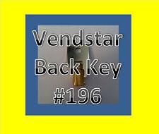 Vendstar 3000 4000 6000 Candy Machines Keys for Vending #196 Back Key