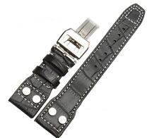 Correa Pilot Flieger 22mm Negra 22/18mm b-uhr Strap Bracelet Cuir IW Leather 22