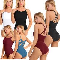 Women Ladies Ballet Dancewear Dress Gymnastics Yoga Sleeveless Leotards Bodysuit