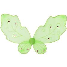 Alas de mariposa elfo ángel Insectos ninfas brillo bee hada carnaval verde