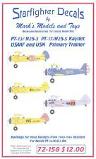 Starfighter Decals 1/72 STEARMAN PT-13 N2S-3 and PT-17 N2S-5 KAYDET Trainers