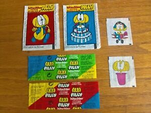 Hitschler gum trade cards / wrappers / tattoos Pilly