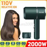 Portable 2000W 110VAC Hair Dryer Blow Dryer Women Air Blower Beauty Travel Salon