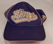 Sacramento Kings Adidas Cap Black with Gold Trim