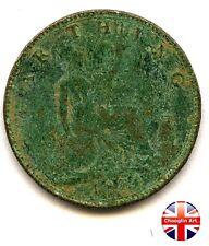 A British Bronze 1874 H VICTORIA FARTHING Coin (Heaton)         (Ref:1874_878/9)