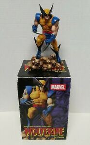 Marvel X-Men Wolverine On Skulls Diamond Statue Figure With Box # 438/2500
