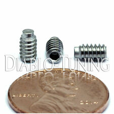"""#6-32 x 1/4"""" - Qty 10 - 1/2 Dog Point Socket SET SCREWS Stainless Steel A2 18-8"""