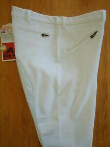 Pantalon équitation hommes EURO-STAR D 56/ US 40/F 50/ I 56/ GB 40 blanc Neuf!!