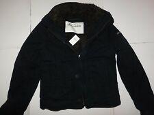 Abercrombie Navy Blue Boys Sherpa Jacket Size Large Brand New