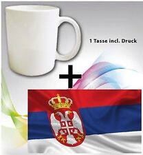 TAZZA Bicchiere Kosova Kosovo Serbia BANDIERA ALBANIA FLAG Alban CUP MUG
