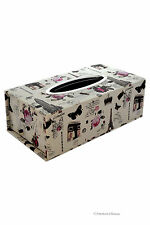 Kleenex Dispenser Paris & London & Roses Box Tissue Cover Holder