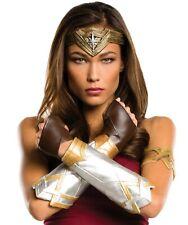 Wonderwoman Costume Accessory Kit Arm Guards Guantlets Tiara Crown Wonder Woman