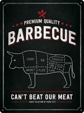 Barbeque Metal Sign - Embossed Large Sign 30 x 40 cm