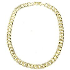 Plain Shinny Gold Curb Cuban Link Chain Necklace