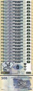 Congo 500 Francs 2013, UNC, 20 Pcs LOT, Consecutive, P-96d